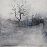 <b>And Beginning Again, Graphite Painting 11-16</b>  |  graphite &amp; oil on hand gesso wood panel  |  64 x 54cm