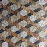 <b>Basket Weave Blocks</b>     recycled rulers     102 x 130cm