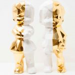 <b>Lost Toys Boy &amp; Girl - Gold</b>  |  ceramic and gold leaf