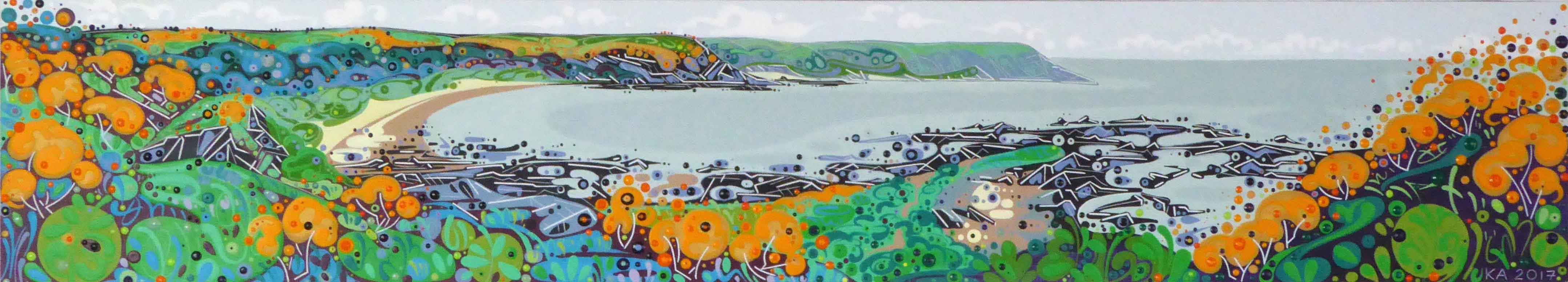 Gorse Cliffs, Port Eynon  |  100 x 18cm