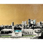 <b>Greenwich, London</b>  |  screen print with 24ct gold leaf and ink  |  40 x 118cm