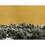 <b>Primrose Hill</b>  |  screen print with 24ct gold leaf and ink<br />edition of 29  |  76 x 76cm