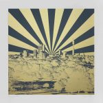 <b>Primrose II</b>  |  hand pulled silkscreen with gold ink  |  76 x 76cm