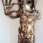 <b>Standing Heart Man</b>  |  bronze  |  81cm