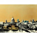 <b>The City of London</b>  |  screen print with 24ct gold leaf and ink<br />edition of 29  |  40 x 118cm