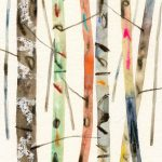 <b>Forest Study III</b>  |  watercolour &amp; oil on paper  |  24 x 33cm     <font color=&quot;#CC0000&quot;>sold</font>
