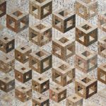 <b>Hollow Cube Floating</b>     recycled rulers     117 x 125cm <font color=&quot;#CC0000&quot;>sold</font>