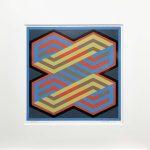 <b>Lemniscate 3</b>  |  woodblock monoprint on paper  |  58.5 x 58.5cm