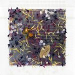 <b>Little Dreams XV</b>  |  wildflower petals, vintage butterflies, skeleton leaf with gold &amp; metal leaf  |  31 x 31cm