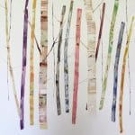 <b>Birch Forest in Colour</b>  |  watercolour, watercolour pastel  |  81.5 x 71cm