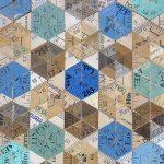 <b>Blue Pinwheel</b>  |  mixed media  |  34 x 38.5cm <font color=&quot;#CC0000&quot;>sold</font>