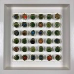 <b>Found Marbles II</b>  |  mixed media  |  31.5 x 31.5cm