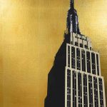 <b>Empire State</b>  |  screen print on Archival museum board, hand applied gold leaf<br />edition of 12  |  80 x 60cm