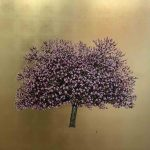 <b>Pink Cherry Blossom - Gold</b>  |  oil &amp; gold leaf on board  |  122 x 122cm      <br /> <a href=&quot;https://www.cube-gallery.co.uk/jack-frame-pink-cherry-blossom-gold/&quot;><font color=&quot;#bcbcbc&quot;>Click here for close up images</font></a>