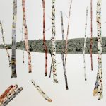 <b>Red &amp; Silver Birch</b>    watercolour &amp; oil on paper  |  103 x 103cm