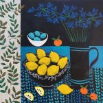 <b>Still Life With Agapanthus</b>  |  acrylic on canvas  |  107 x 107cm     <font color=&quot;#CC0000&quot;>sold</font>
