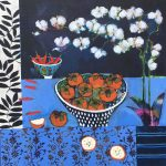 <b>Still Life With Persimmon</b>  |  acrylic on canvas  |  107 x 107cm     <font color=&quot;#CC0000&quot;>sold</font>