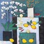 <b>Still Life With White Table II</b>  |  acrylic on canvas  |  107 x 107cm     <font color=&quot;#CC0000&quot;>sold</font>