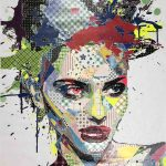 <b>Stella</b>  |  mixed media  |  170 x 110cm      <br /> <a href=&quot;https://www.cube-gallery.co.uk/alea-pinar-du-pre-stella/&quot;><font color=&quot;#bcbcbc&quot;>Click here for close up images</font></a>