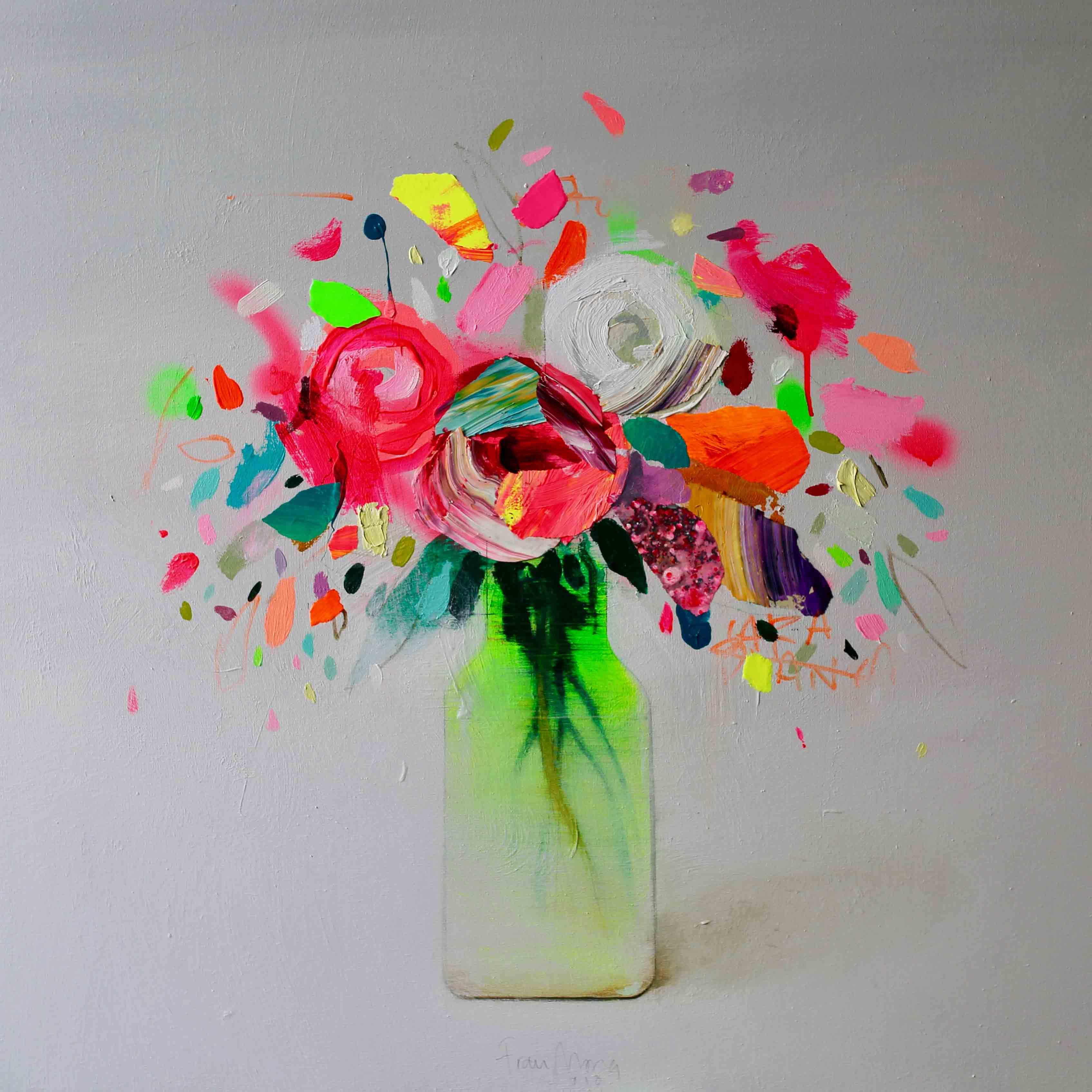 Flores, 80x80cm