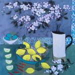 <b>Still Life With Apple Blossom</b>  |  acrylic on canvas  |  100 x 100cm