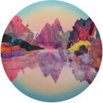 <b>Earth Intruders</b>  |  acrylic &amp; resin on board  |  120cm diameter    <br /> <a href=&quot;https://www.cube-gallery.co.uk/kate-shaw-earth-intruders/&quot;><font color=&quot;#bcbcbc&quot;>Click here for close up images</font></a>