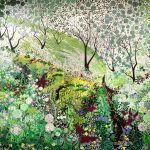 <b>Woodland Log, Spring</b>  |  acrylic on dibond  |  120 x 150cm      <br /> <a href=&quot;https://www.cube-gallery.co.uk/katie-allen-woodland-log-spring/&quot;><font color=&quot;#bcbcbc&quot;>Click here for video &amp; close up images</font></a>