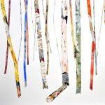 <b>Amid The Trees</b>  |  watercolour, watercolour pastel &amp; oil  |  84 x 114cm