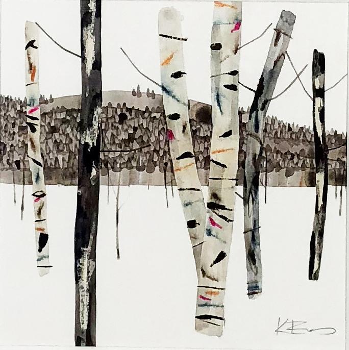 Kate Evans Distant Forest 37 x 37cm copy