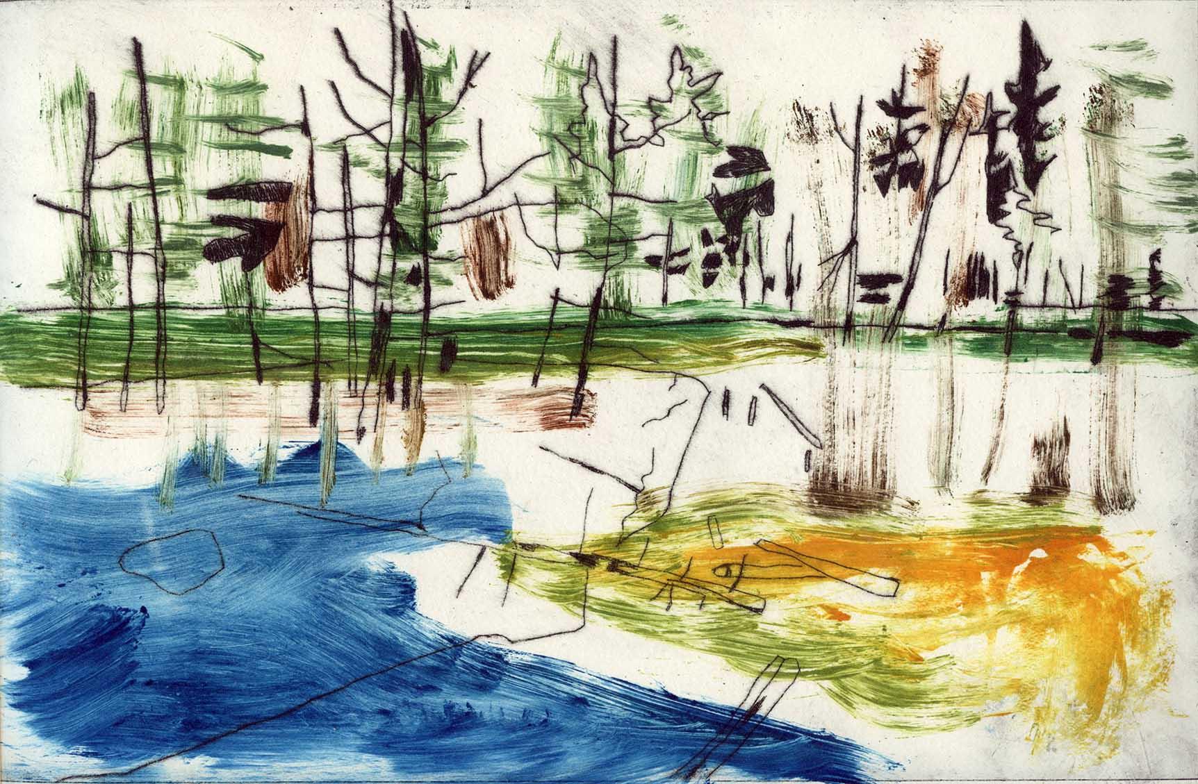Kate Evans Lake Study I, Algonquin, 33x44cm, Kate Evans