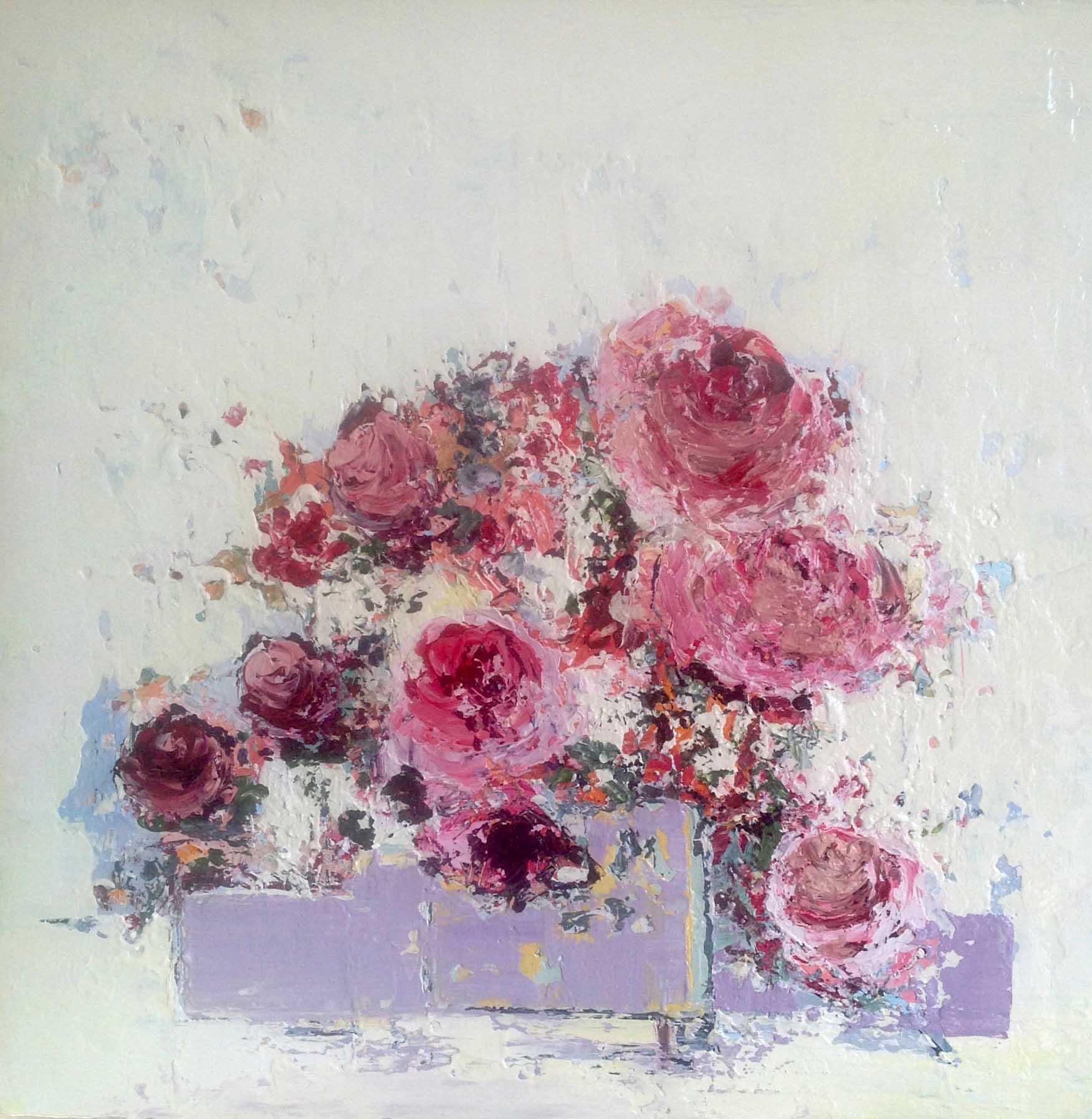 Lorraine Wake English Rose, 40x40cm, Lorraine Wake