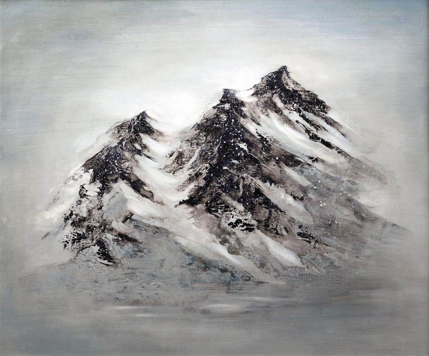Mountains Peaks, 63x53cm