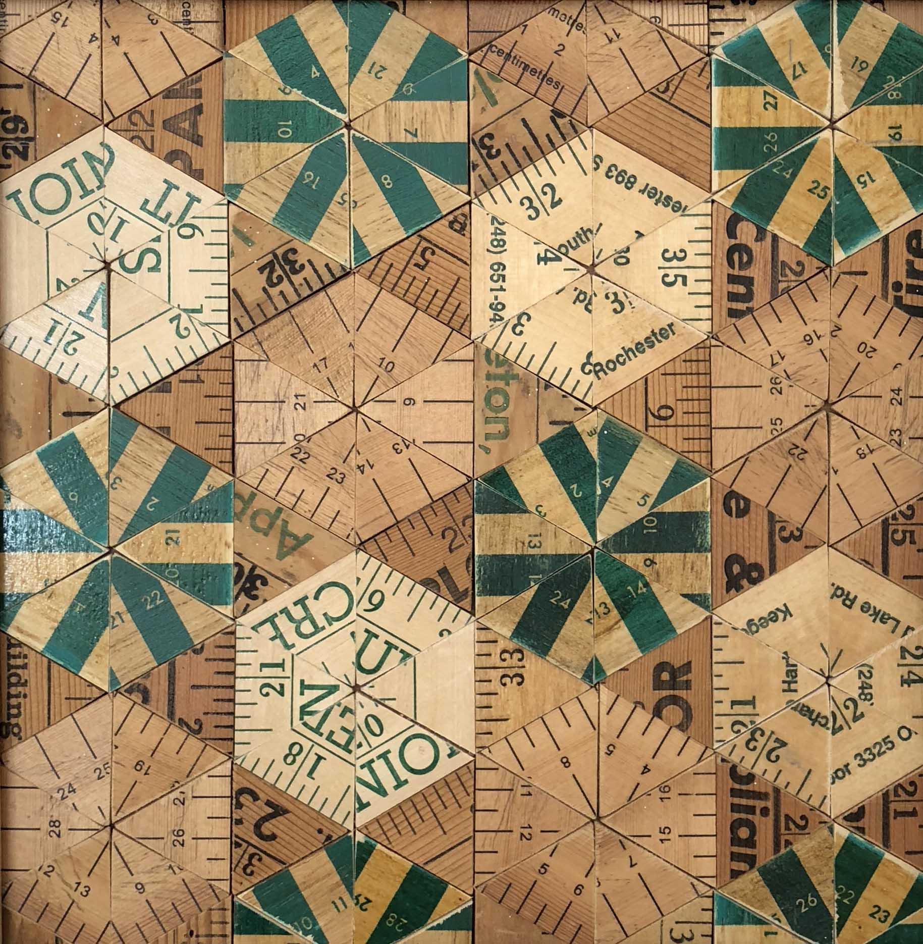 Rose Vickers Green Pinwheel, 29x29cm