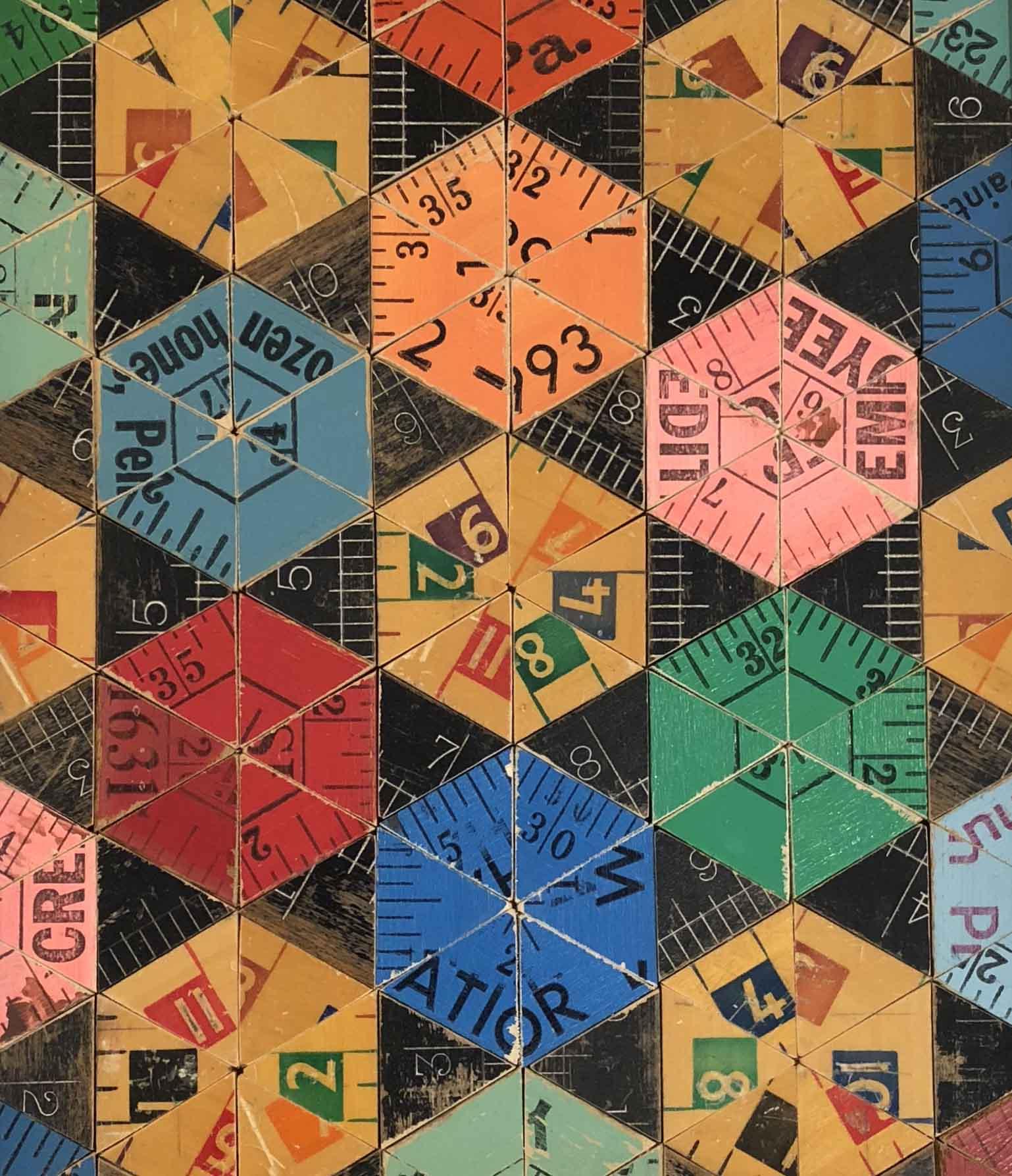 Rose Vickers Multicolour Pinwheel, 26x29.5cm