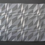 <b>Mini Series, Series 3 Number 1</b>  |  hand-folded drafting film  |  41.5 x 54.5cm         <br /> <a href=&quot;https://www.cube-gallery.co.uk/tony-blackmore-mini-series-3-number-1&quot;><font color=&quot;#bcbcbc&quot;>Click here to view video &amp; close ups</font></a>