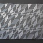<b>Mini Series, Series 3 Number 2</b>  |  hand-folded drafting film  |  41.5 x 54.5cm         <br /> <a href=&quot;https://www.cube-gallery.co.uk/tony-blackmore-mini-series-3-number-2&quot;><font color=&quot;#bcbcbc&quot;>Click here to view video &amp; close ups</font></a>