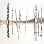 <b>Glimpsed Landscape</b>  |    watercolour, watercolour pastel &amp; oil  |  84 x 114cm
