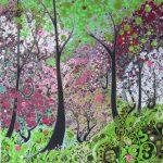 <b>On The Turn, Spring</b>  |  acrylic on disband  |  100 x 100cm