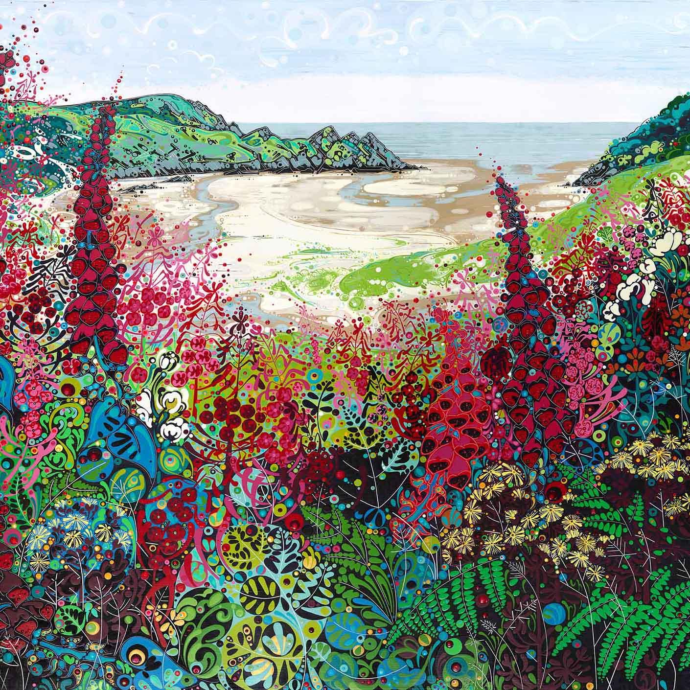Three Cliffs Summer, 150x120cm copy